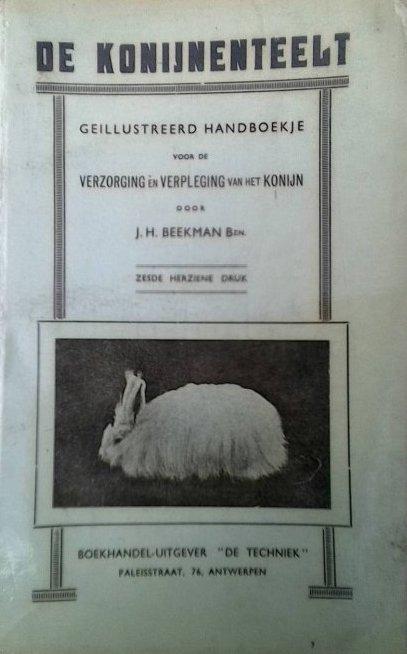 Cover boek de konijnenteelt