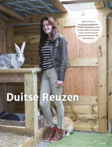 Cover artikel uit Boerenvee over Duitse reuzen