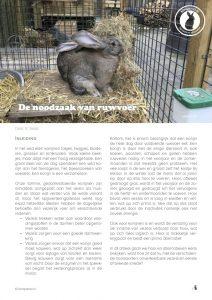 """Cover van het artikel """"De noodzaak van ruwvoer"""""""
